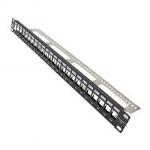 VCOM-Patch Panel 24 Ports Cat6A For SFTP-D16424